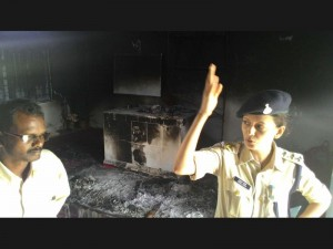 india church burns