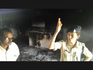 india church burns