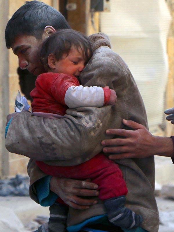 Damascus burns as the world eyes Europe