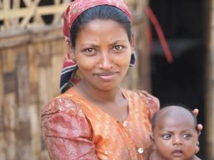 Rohingya mom and baby