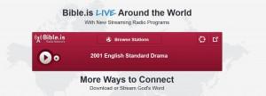 (Screenshot of Bible.is Radio)