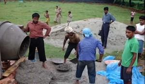 Living Water Center construction