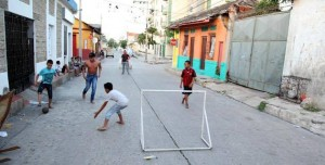 Rose of Sharon children playing street soccer (Photo by International Needs Network)