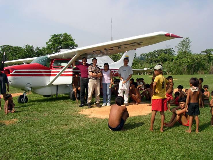 Cessna 206 landing in Brazil