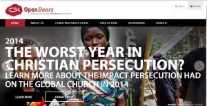 Screen shot of Open Doors USA's website.