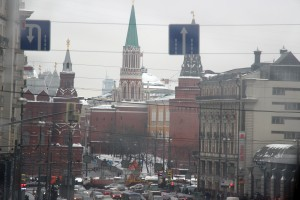 (Photo Courtesy Greg Yoder) The streets of Moscow, Russia.