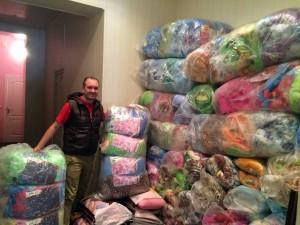 Supplies for Ukrainian refugges. (SGA Photo)