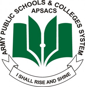 This is a logo owned by APSACS Secretariat for Army Public Schools & Colleges System.  http://www.apsacssectt.edu.pk/