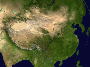 satellite imagery of china
