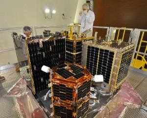 Microsatellites (Photo courtesy of NASA)