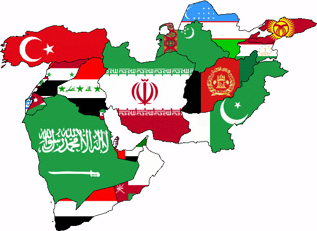 Middle East Political Map 2015
