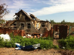 The fighting in eastern Ukraine has shattered the lives of many, and has resulted in thousands of refugees. (Photo and caption courtesy of Slavic Gospel Association).