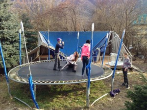 This trampoline is now unusable. Can you help them get a new one? (Photo courtesy of SOAR International via Facebook)