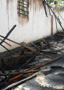 Churches are often targeted for destruction like this one burned down in Tanzania last May (Photo courtesy of Voice of the Martyrs Canada via Facebook)