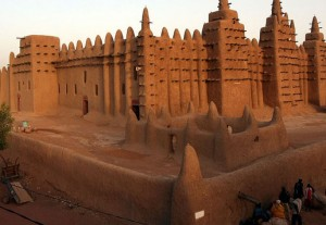 The Djenne Mosque in Mali.