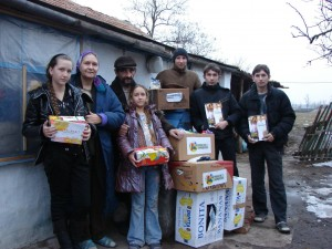Care packs are given to refugee families by local churches (Mission Eurasia Photo)
