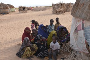 A group in a northern Kenya desert listening to the Treasure (Photo courtesy of World Mission via Facebook)