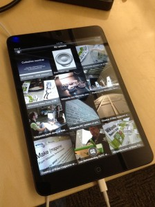 iPad mini running Commons mobile app. (Photo, caption courtesy of Wikimedia Commons)