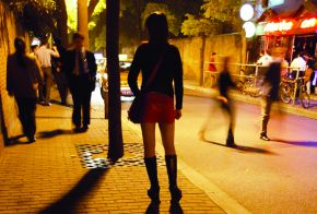 Trafficked women are trapped