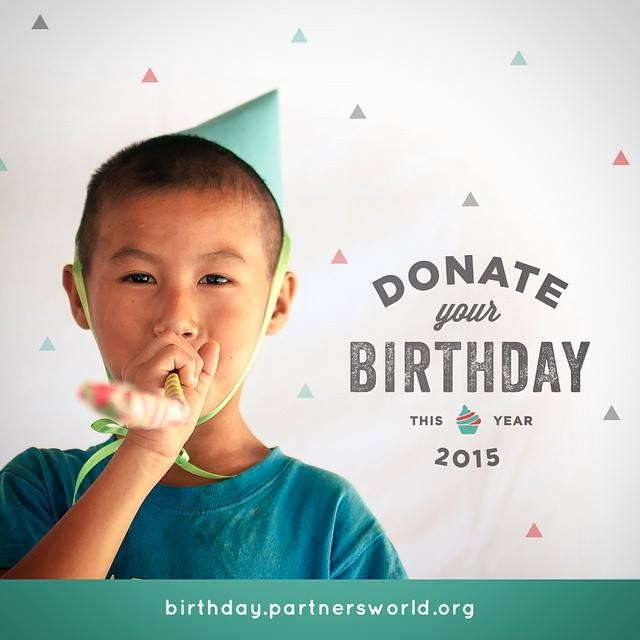 Donating your birthday can help change lives