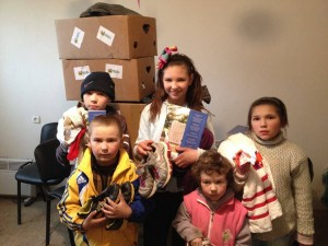 Children in Ukraine receiving assistance from Mission Eurasia supported churches (photo by Mission Eurasia).