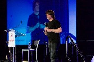 Jimmy Wayne speaking at the 2015 Children's Hope Dinner.  (Photo courtesy Orphan Outreach)