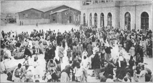 Armenians ordered by the authorities to gather in the main square of the city to be deported. The crowd was eventually massacred. (Photo, caption courtesy Wikipedia)