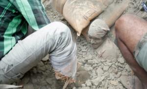 (Photo courtesy Asian Access/Survivor found in rubble)