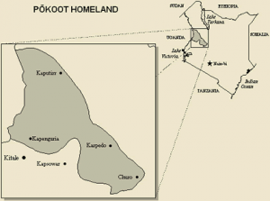 (Map of Pokot region courtesy Joshua Project)