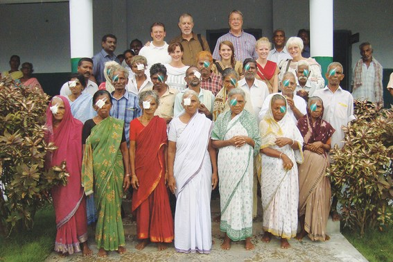 Showing the love of Christ to leprosy patients