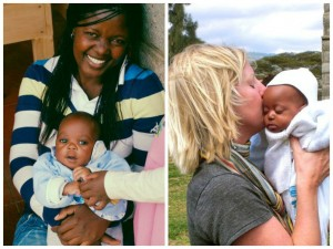 Our first 2 babies at Naomi's Village: Evans and Mary!  (Photo, caption courtesy Naomi's Village)