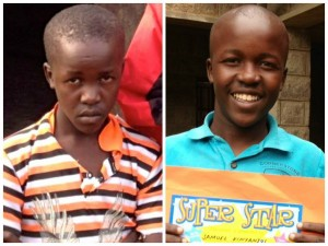 One year after meeting Samuel, a scared and hopeless teenager, we celebrated him making A's in mathematics! His life is changed because of Cornerstone and he wants other children to get this same opportunity. (Photo, caption courtesy Naomi's Village)