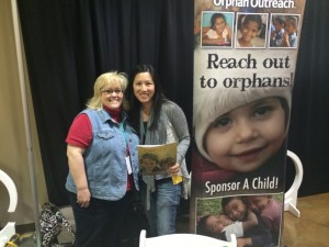 Orphan Outreach staff members Amy Seale and Katherine Cheng at the Orphan Summit in Nashville, TN (photo by Tiffany Taylor).