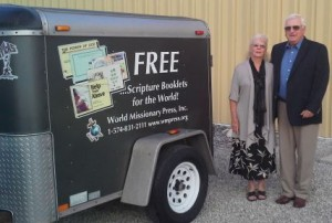 Fred and Betsy Eiler travel the United States talking about the work of World Missionary Press.