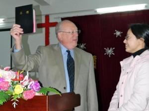 (Photo courtesy Bibles For China. Left: Wendell Rovenstine)