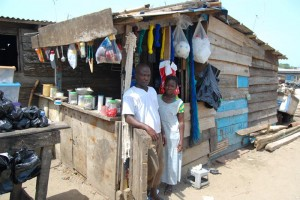 A shop in rural Ghana.  (Photo courtesy Compassion)