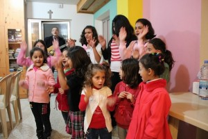 Children give God thanks at Beit El Safa (Photo and caption courtesy of SAT-7 UK)