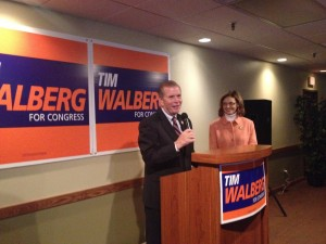 Tim Walberg on the campaign trail in 2014.  (Photo courtesy Walberg For Congress via Facebook)