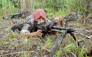 Moro Islamic Liberation Front militant (Photo, caption courtesy Keith Kristoffer Bacongco via Wikipedia)