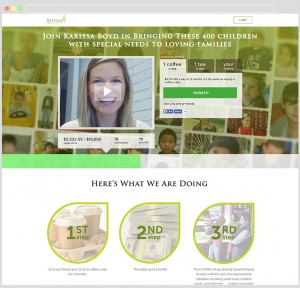 Personalized Campaign Page (Photo Courtesy Bethany Christian Services)