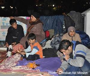 Syrian refugees can still be seen living on the streets of Athens.