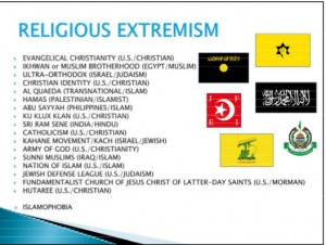 Evangelical Christianity is defined as a religious extremist group by the Army Reserve.