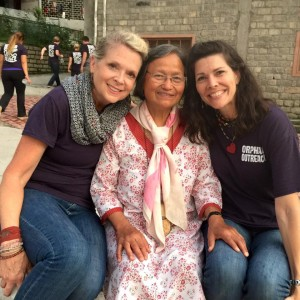 """Amy Norton (right) with """"Auntie"""" (middle) says, """"We desperately need sponsors for these children."""""""