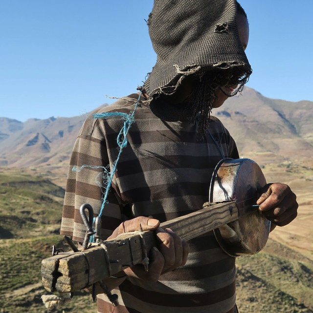 Shepherds abiding in the fields of Lesotho