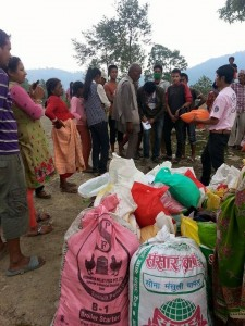 disting aid to earthquake survivors