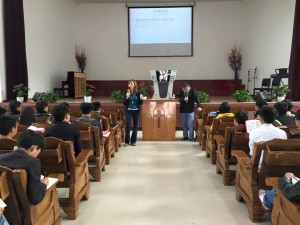 Teaching in a Chinese church.  (Photo courtesy China Partner via Facebook)