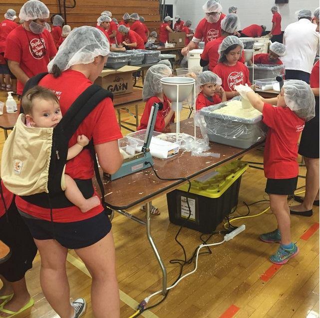 Volunteers to pack supplies in June