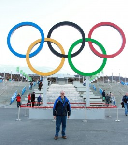 Greg at the Sochi Olympics in Russia 2014 with SOAR International.
