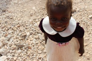 Malnutrition has turned this little girl's hair orange.  (Photo cred: MNN/Katey Hearth)