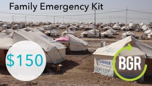 BGR's Family Emergency Kits contain a tent, food, clean water and blankets.  (Photo courtesy Baptist Global Response)